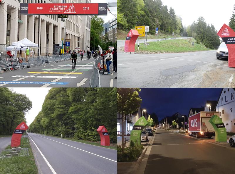 BOFA-Montage Team installiert bei Radrennen Eschborn-Frankfurt