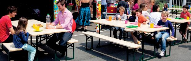 tables et bancs de kermesse doublet