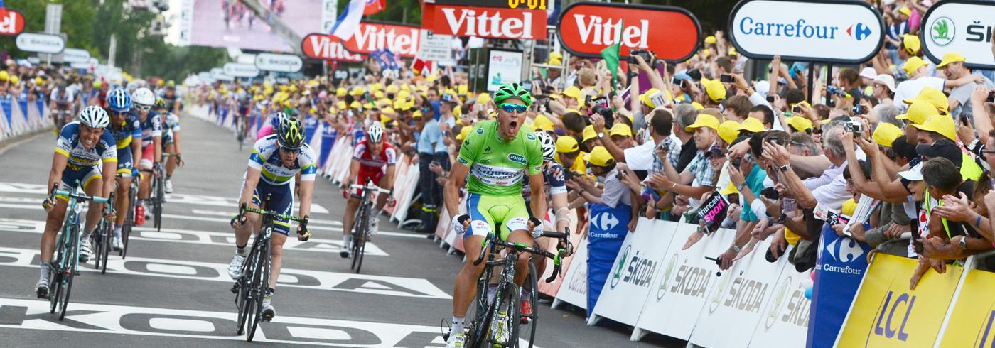 Ligne d'arrivée du Tour de France