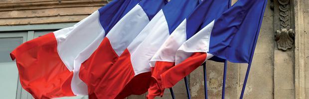 bloc drapeaux français doublet
