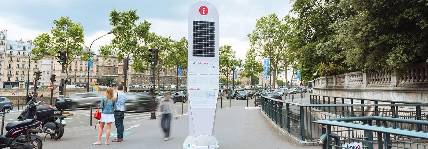 Doublet crée des totems connectées pour la ville de Paris