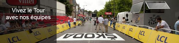 Vivez le tour de France avec les équipes Doublet
