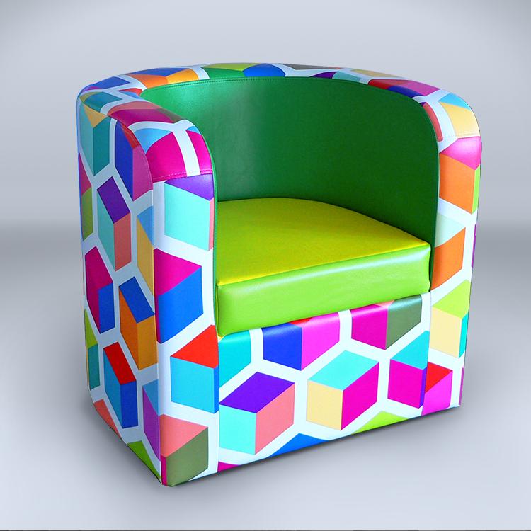 bedruckter Sessel