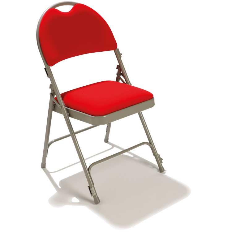 Vente chaise pliante 2600 assise en velours rouge m1 doublet - Chaise pliante rouge ...