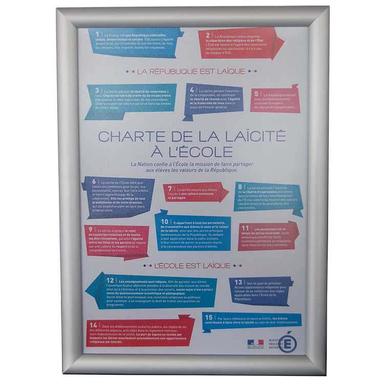 Charte de la Laïcité sous cadre A3