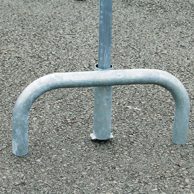 Pied amovible en acier