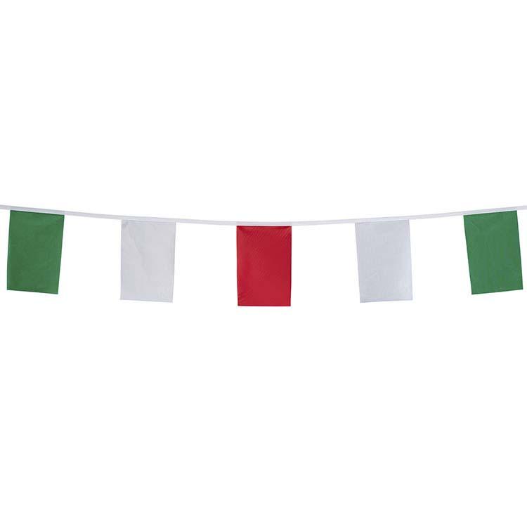 Guirlande rectangulaire - vert blanc rouge