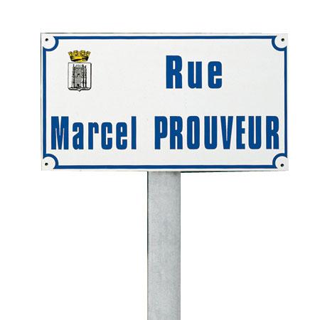 Panneau de rue Métalu
