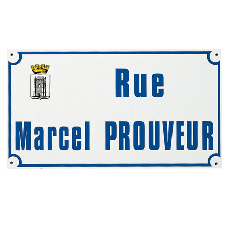 Plaque de rue Métalu