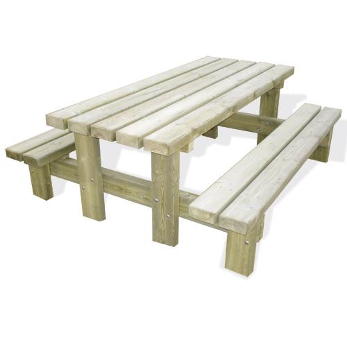 Table De Pique En Bois - Table de pique nique Roma 8 places en bois PEFC Doublet