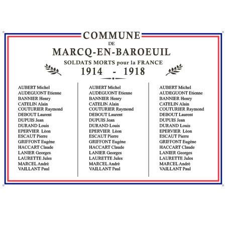 Plaque commémorative Centenaire 14/18 - A1