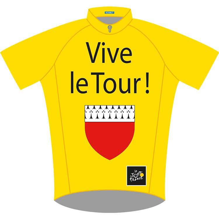 Guirlande tissu m1 tour de france avec les 4 maillots - Deco tour de france ...