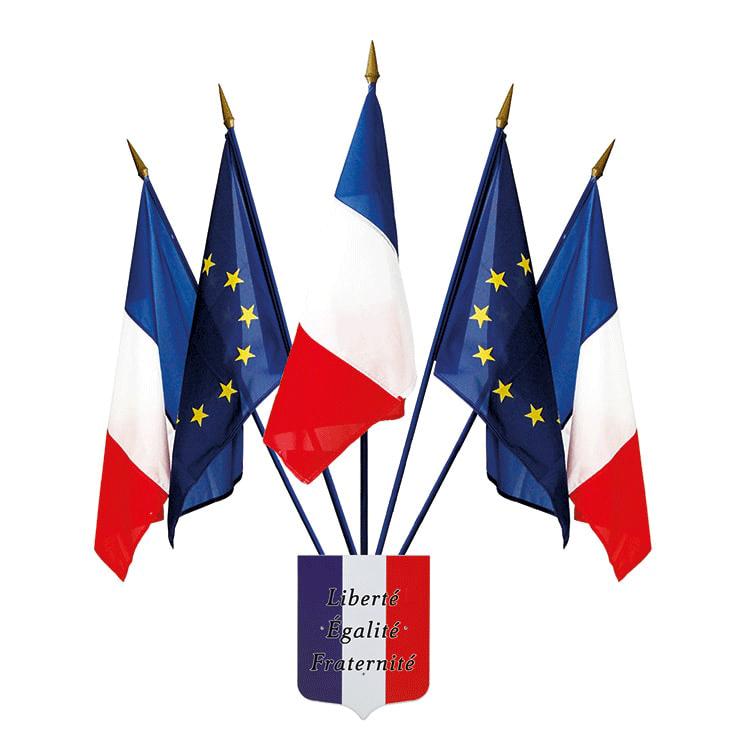 Kit drapeaux façade de mairie