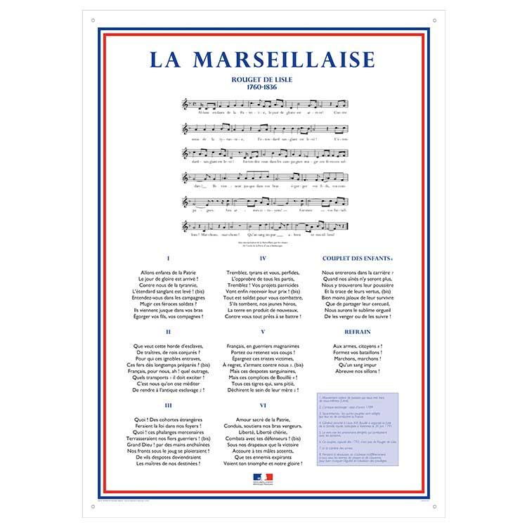 La Marseillaise sur Plexiglas A1