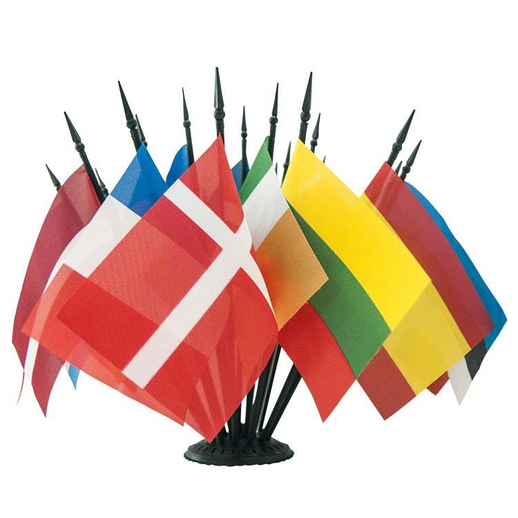 Drapeau de table des pays en tissu