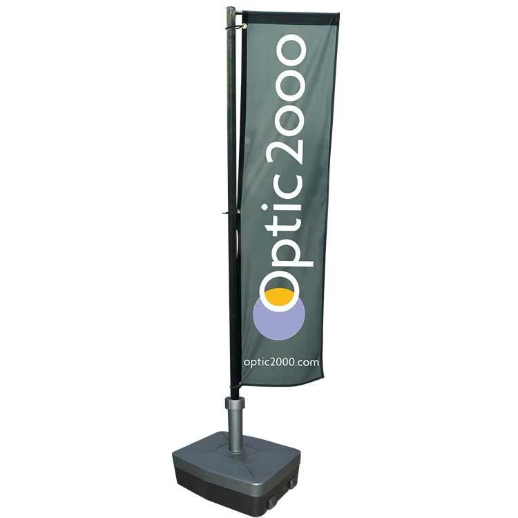 M ts d montables ou t lescopiques pour beach flags et wind for Kakemono exterieur