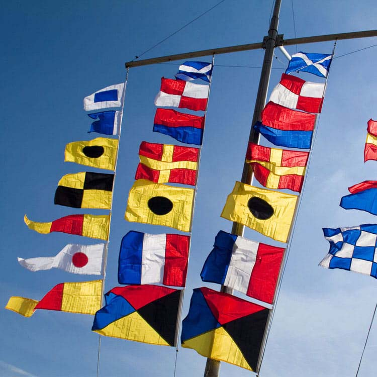 Lot de 40 drapeaux code international