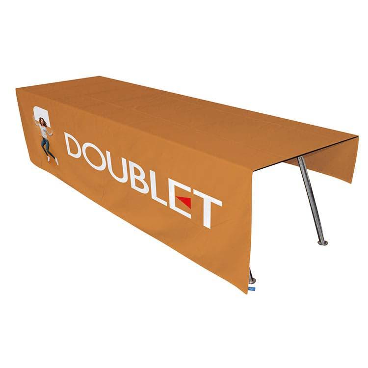 Fabricant de nappe imprim e au logo nappes publicitaires for Une nappe de table