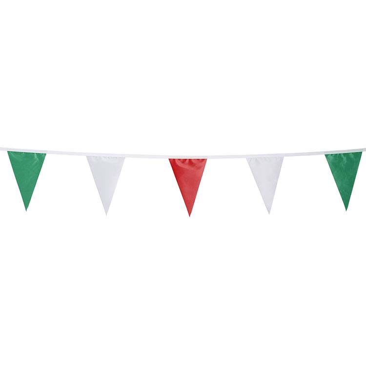 Guirlande triangulaire - vert blanc rouge