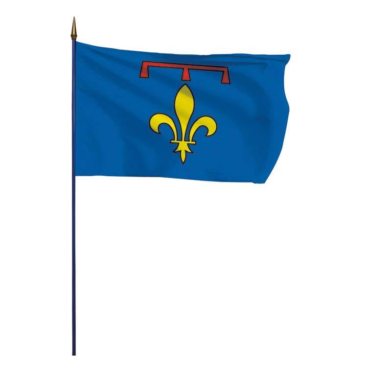 Drapeau province Provence (lys)