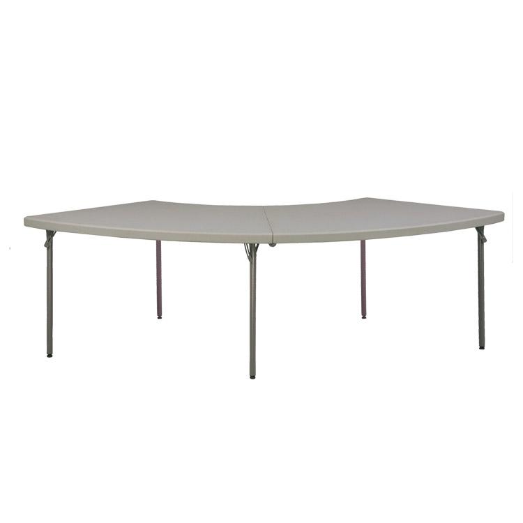 doublet vente table demi cercle duralight pliable pour cercle. Black Bedroom Furniture Sets. Home Design Ideas