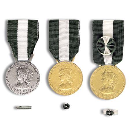 Médailles régionale, départementale et communale