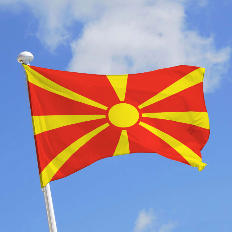 Drapeau Macédoine