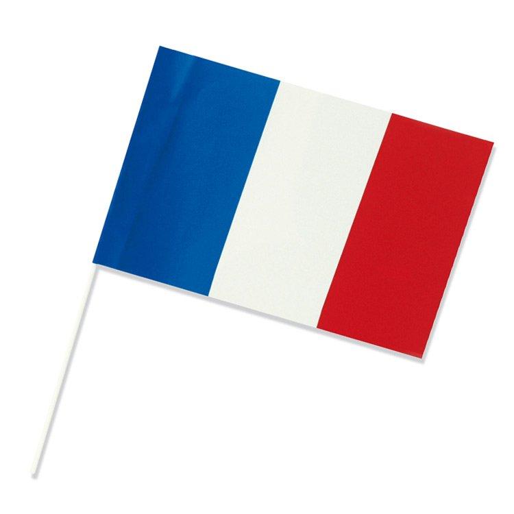 Drapeau français en plastique à main