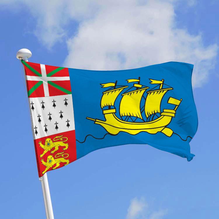 Drapeau province Saint-Pierre-et-Miquelon