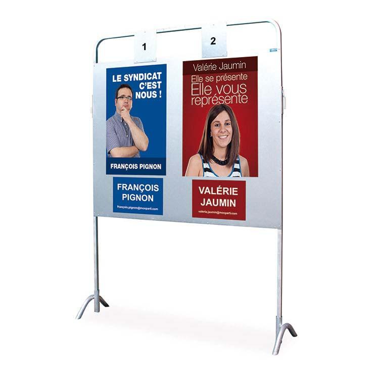 Panneau d'affichage électoral double
