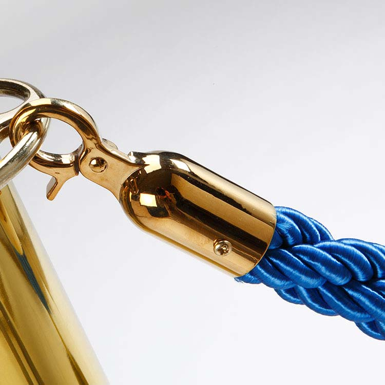 Corde Smart 1,50 m bleue à mousquetons cuivrés