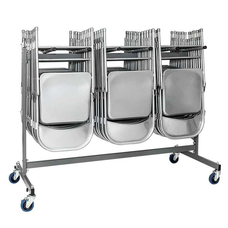 Chariot stockeur chaises pliantes - 1 niveau