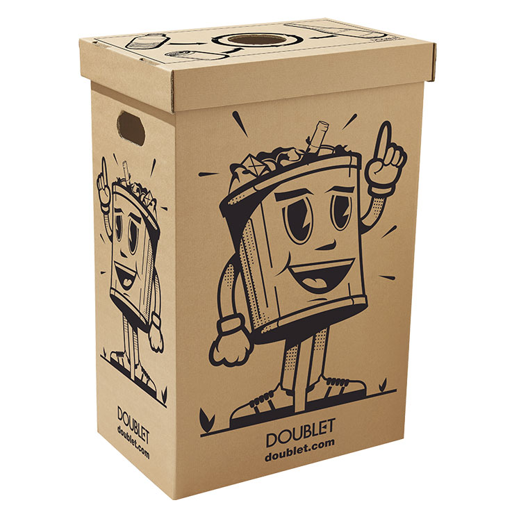 Poubelle carton Kermesse