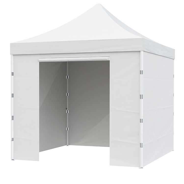 Tente pliante Pop up fermée - Toile Polyester unie blanche