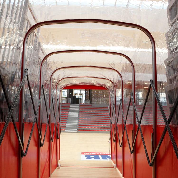 Vue intérieure du tunnel
