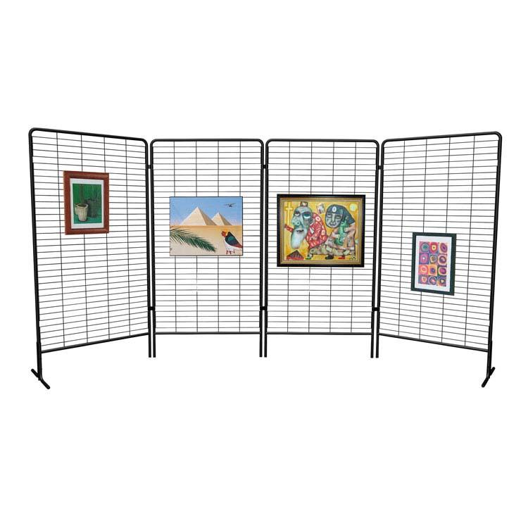 panneaux grille d 39 exposition sur pieds labelexpo doublet. Black Bedroom Furniture Sets. Home Design Ideas