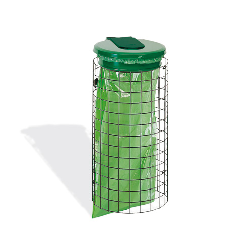 Habillage support de sac poubelle grille