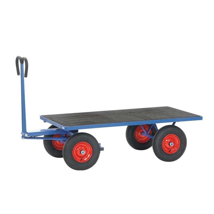 Chariot dalles plombantes roues pneumatiques