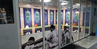 Aménagement du nouvel espace VIP de l'équipe de basket Pau