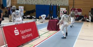 Inversa Aufsteller bei der Deutschen Meisterschaft im Säbelfechten