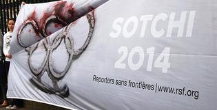 Des bâches XXL pour Reporters Sans Frontières