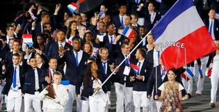 Le porte-drapeau aux Jeux Olympiques