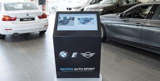 Des bornes digitales et interactives pour BMW