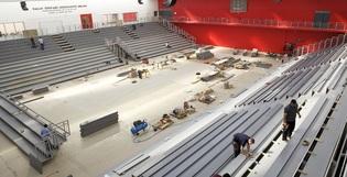 1/2 Vue 360 de notre montage au Palais des sports Saint-Sauveur de Lille
