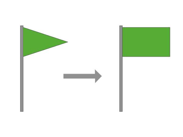 Drapeau vert pour baignade surveillée