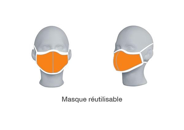 Masque réutilisable en tissu