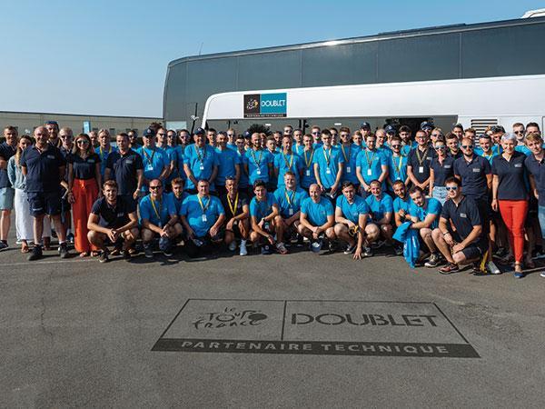 Les men's blue prêt pour le départ du Tour de France