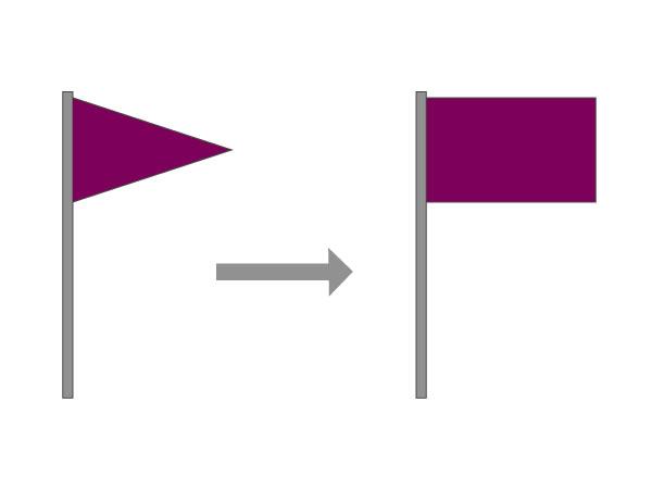 Drapeau violet pour pollution ou espèces spécifiques