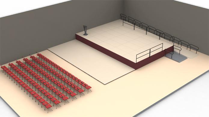 Plan 3D podium ©Doublet