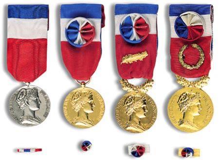 médailles d'honneur du travail